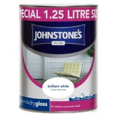 Johnstone's Quick Dry Gloss 1.25L - Brilliant White